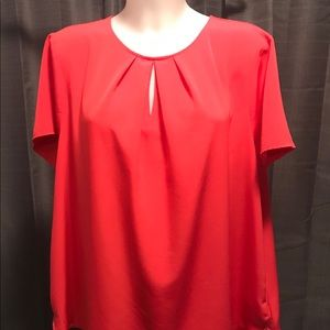 The Outfitters by Lands' End blouse coral EUC